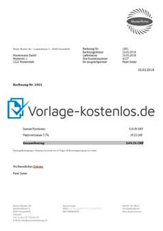 Rechnungsvorlage Word Excel Gratis Bei Pebe Smart