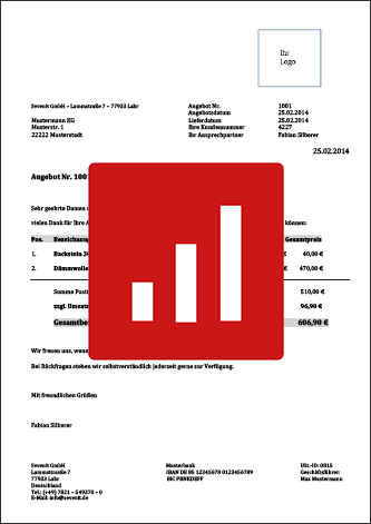 Offertvorlage Schweiz Gratis Download Bei Pebe Smart