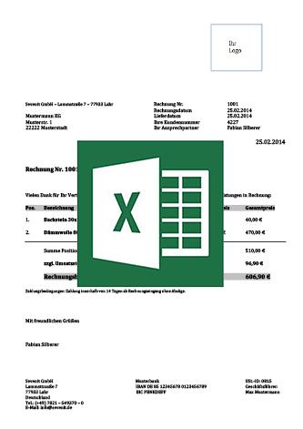 Vorlagen Für Rechnungen Excel